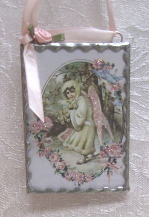 Glass Angel Ornament 4-Victorian ornament