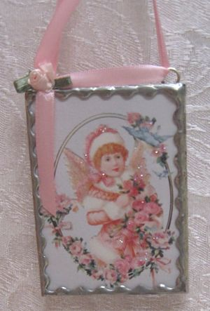 Glass Angel Ornament 7-Victorian ornament