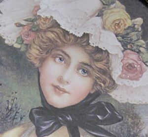 Oval Black Frame 3-Victorian Beauty