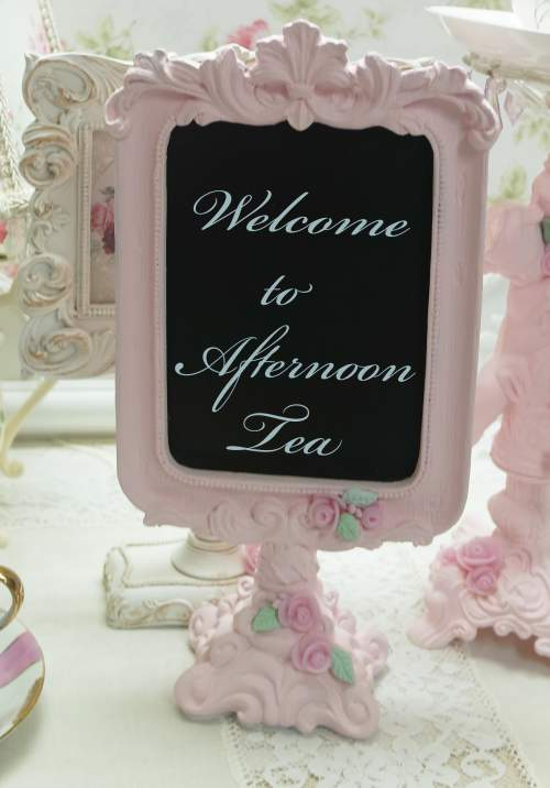 Standing Chalk Board-pink chalk board, sitting chalk board, rose chalk board