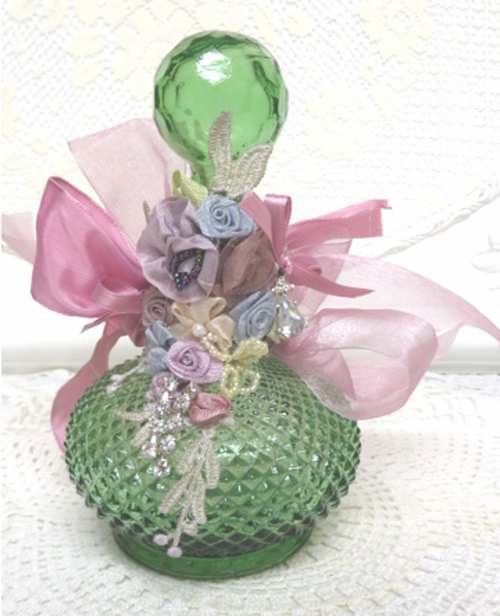 Green Bottle I-green bottle, bottle, decorated bottle, pale green bottle,