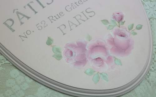 French Pastry Sign-pink oval sign, pink sign, french sign,