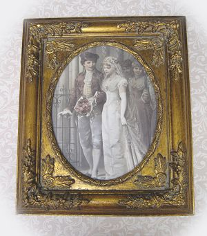 Victorian Couple 3-Victorian Wedding  framed wedding picture Victorian bride and groom