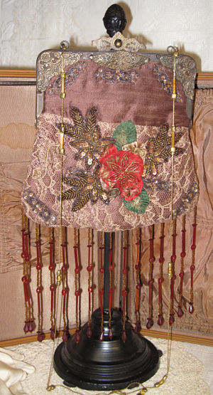 Brown Purse-brown purse, sequin purse, brown beaded purse