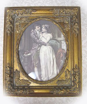 Victorian Couple 2-The engagement frame print Victorian couple