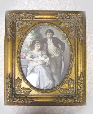 Victorian Couple 4-Victorian couple with baby couple with baby framed Victorian couple