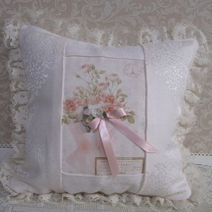Pink Damask Pillow 2-Pink damask pillow