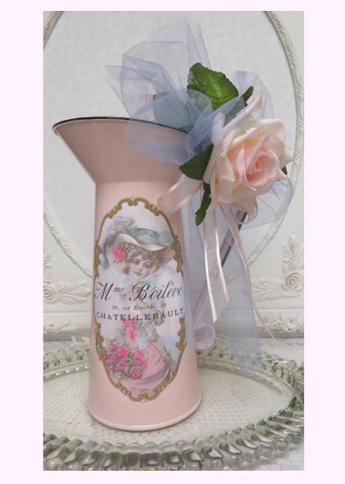 French Lady Pink Pitcher IV-