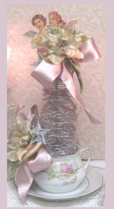 Pink Angel Tree-pink tree, angel tree, pink rose tree, star tree, rose tree, silver tree,