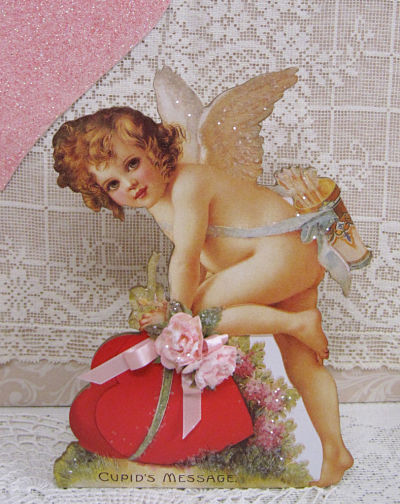 Cherub with Red Hearts-Cherub Music Box