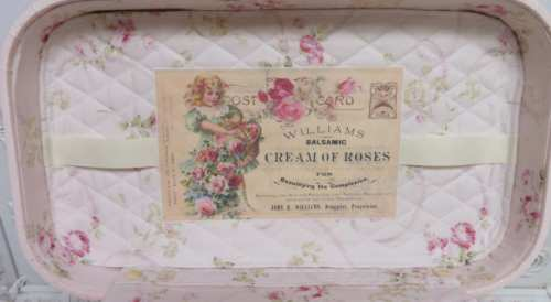 Pink Postage Train Case-pink train case, postage train case, roses train case