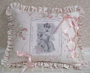 Pillow With Corset Lacing-french pillow