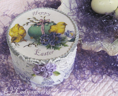 Lavender Music Box-Lavender Music Box, Easter Chicks Music Box,  Easter Egg Music Box