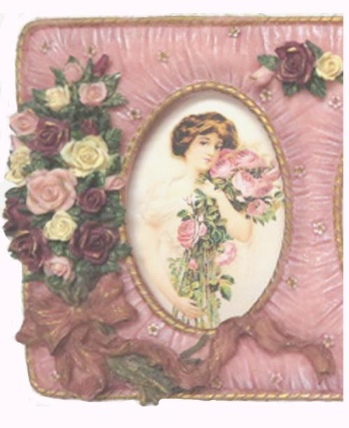 Pink Picture Frame-pink frame, picture frame, Victorian pictures, Victorian frame