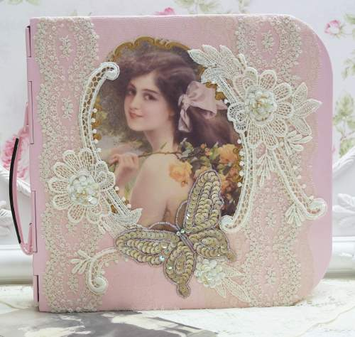 Lovely Lady Photo Box-photo box, pink scrap box, pink storage box