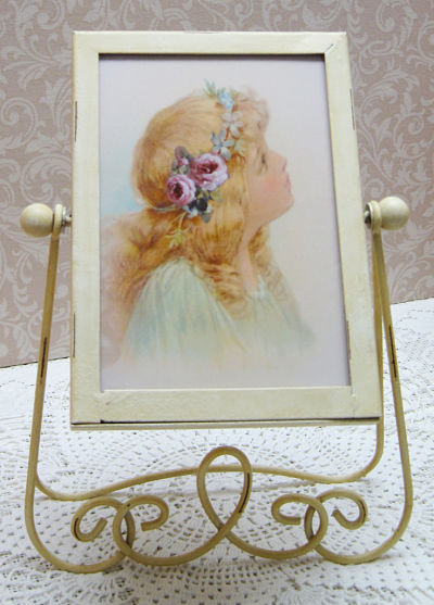 Victorian Frame with Rose Girl-