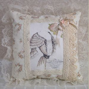 French Dress Pillow-French Pillow