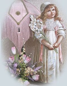 victorian girl in white-Victorian stand ups