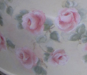 Hand Painted Cake Cover-hand painted rose cover, hand painted roses, painted cake cover, rose cake cover