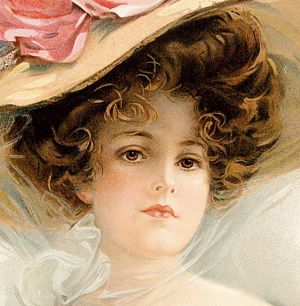 Victorian Lady 2 Hat Full Of RosesVictorian Lady In