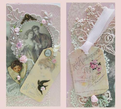 Pink Enamel Photo Box-photo box, pink box, scrap box, cameo photo box