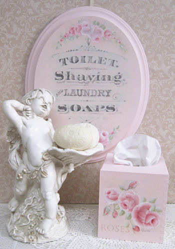 Shaving and Laundry Soaps-Pink Plaque, Laundry Soap Plaque