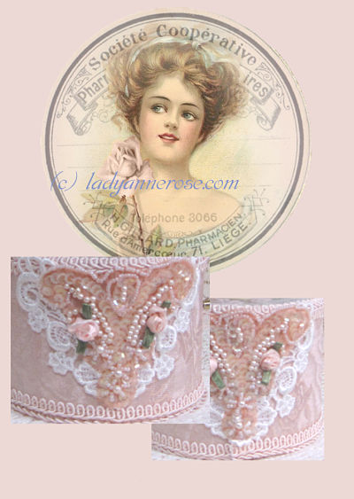 Lady with Single Pink Rose-music box, lady music box, Clair De Lune music box, pink music box