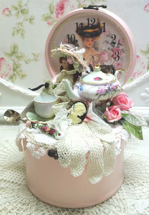 Time For Tea Collage-Tea Time collage, Pink box collage, tea collage, tea pot collage, tea cup collage
