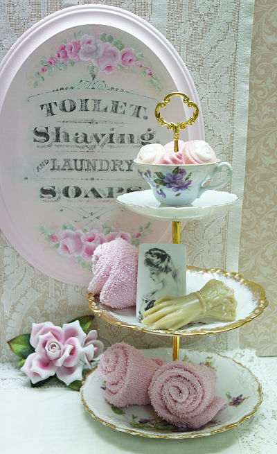 Three Tier Violets I-violet cake tier, china tier plates, violet cup and plates, Limoges